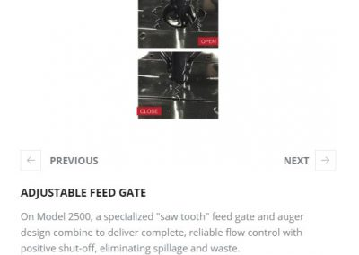 ADJUSTABLE FEED GATE