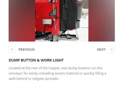 DUMP BUTTON & WORK LIGHT