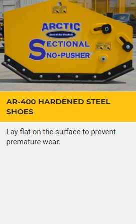 AR-400 HARDENED STEEL SHOES
