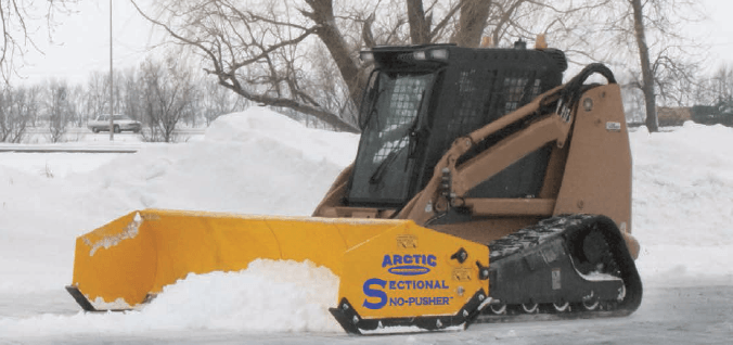 Because of the Sectional Sno-Pusher's patented design, it is the most forgiving pusher on the market.