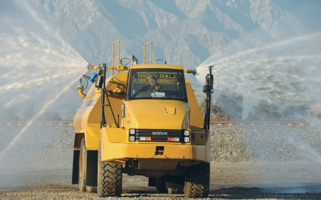 Dust Suppression Using Truck-Mounted Water Spray Systems