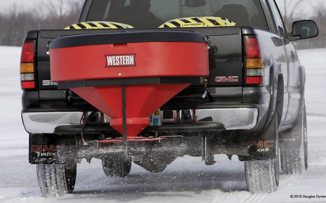 The Western Low Profile Tailgate Spreader provides a unique point of view